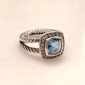 Jewelry - David Yurman Petite Albion Blue Topaz Ring